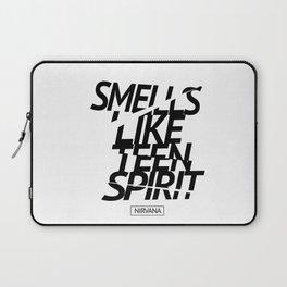 Smells Like Teen Spirit #black #broken Laptop Sleeve