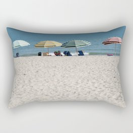 Bald Head Island Beach Umbrellas | Bald Head Island, North Carolina Rectangular Pillow