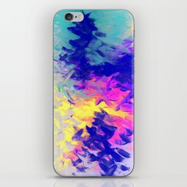 Neon Mimosa Inspired Painting iPhone Skin