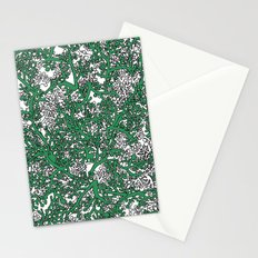 Green and White Camo Stationery Cards