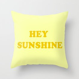 Hey Sunshine \\ Retro Summer Vibes Throw Pillow