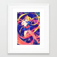 sailor moon Framed Art Prints featuring Sailor Moon by Ginilla