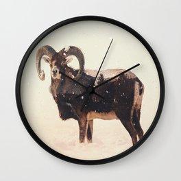 Veluwe: Corsican Sheep Wall Clock