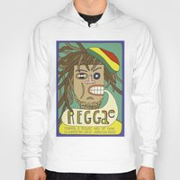 reggae Hoodies featuring Reggae by Timea Koncz