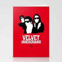 velvet underground Stationery Cards featuring VELVET UNDERGROUND R by zzglam