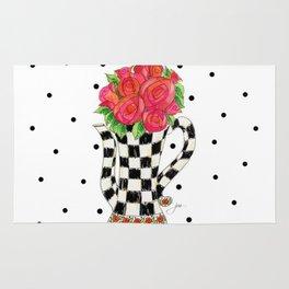 Teapot Roses Rug