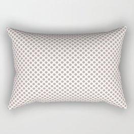 Adobe Rose Polka Dots Rectangular Pillow