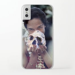 Island Cannibal - Vintage Collage Clear iPhone Case