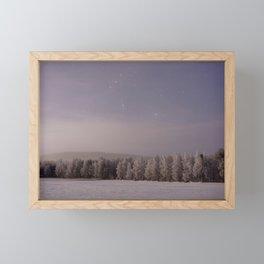 Snow and Stars Framed Mini Art Print