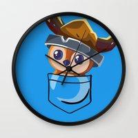 warcraft Wall Clocks featuring Viking Pepe! by SlothgirlArt