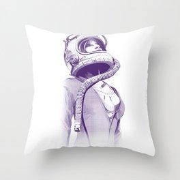 Space Woman Throw Pillow