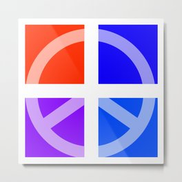 Peace Abstract 3 Metal Print