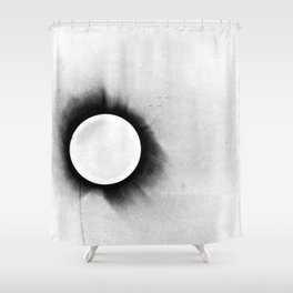 1919 Solar Eclipse Shower Curtain