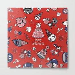 Jelly Party (Red) Metal Print