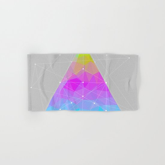 The Dots Will Somehow Connect (Geometric Pyramid) Hand & Bath Towel