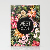 west coast Stationery Cards featuring West Coast by Text Guy