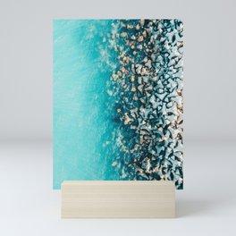 Abstract Turquoise Ocean, Aerial Blue Sea Print, Large Ocean Poster, Coastal Wall Art, Beach Decor Mini Art Print