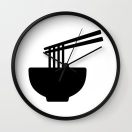 Bowl of Noodles Silhouette Wall Clock