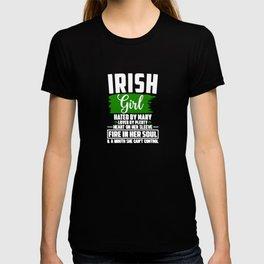 St Patricks Day Irish Girl Fire In Her Soul Poem T-shirt