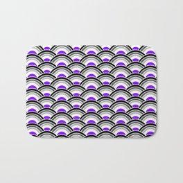 Black, Gray, and Purple Scallop Bath Mat