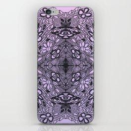 Black Lace Mandala iPhone Skin