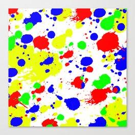 Colorful Paint Splatter. Canvas Print