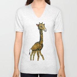 The Hinged Giraffe Unisex V-Neck