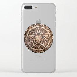 Brigid's Pentacle Clear iPhone Case