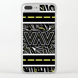 The Fractal Roads of Vans and Villains in VanLife Clear iPhone Case