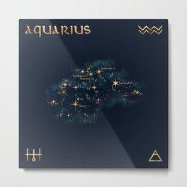 Aquarius Constellation Metal Print