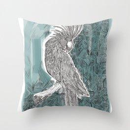 Blue Cockatoo Throw Pillow