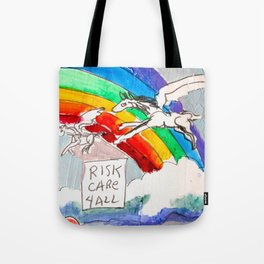 Risk, Care 4 All portrait painting by Scott Richard Tote Bag