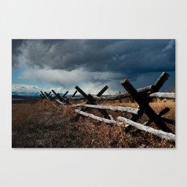 Storm & Fence Canvas Print