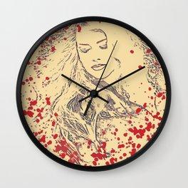 Splatter Beauty Wall Clock