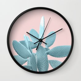 Blush Cactus #1 #plant #decor #art #society6 Wall Clock