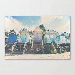 beach huts photograph Canvas Print