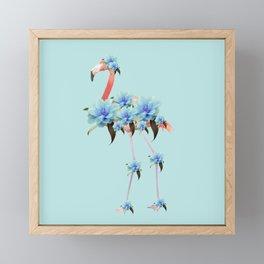 Flower Flamingo #1 #floral #decor #art #society6 Framed Mini Art Print