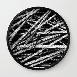 Rebar And Spring - Industrial Abstract Wall Clock