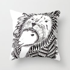 Who is the Lion? Throw Pillow