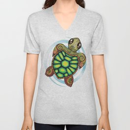 Baby Sea Turtle Unisex V-Neck