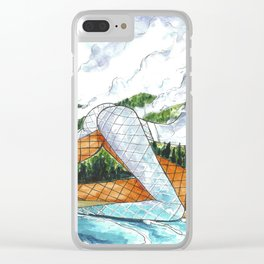 PNW Fishnets - Earth and Sky Goddess Kiss Painting Clear iPhone Case