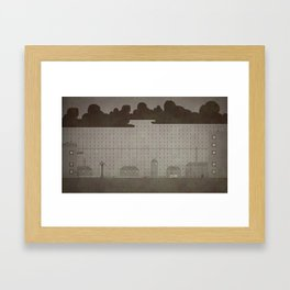 Rainy Scene Framed Art Print