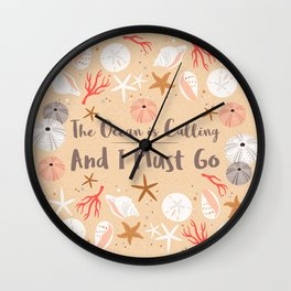 The Ocean is Calling Wall Clock