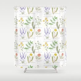 Medicinal Herbs Shower Curtain
