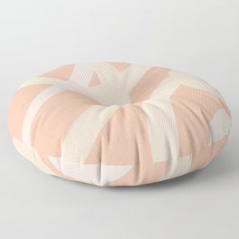 Abstract Lines_peach, blush, coral palette 1 Floor Pillow
