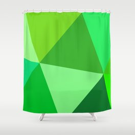 Prismatika Shades of Green Shower Curtain