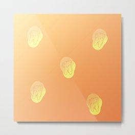 Teeth Sun positive gradient color Metal Print