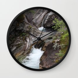Norwegian waterfall photo, landscape photos, pothole, Instant download, Fine art gifts  Wall Clock