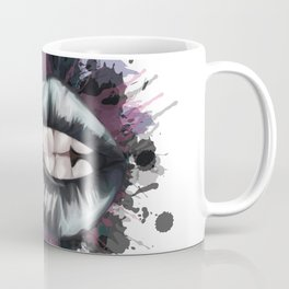 Black Lips Coffee Mug