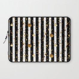 Stripes & Gold Splatter Laptop Sleeve